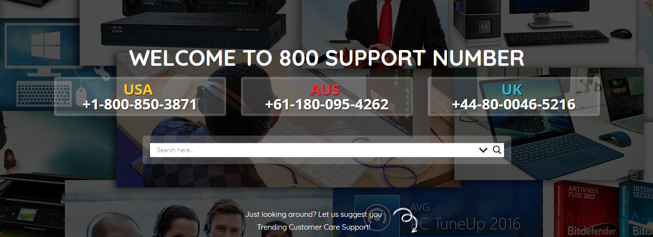 800 Support Number USA
