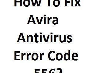 Fix Avira Antivirus Error Code 556